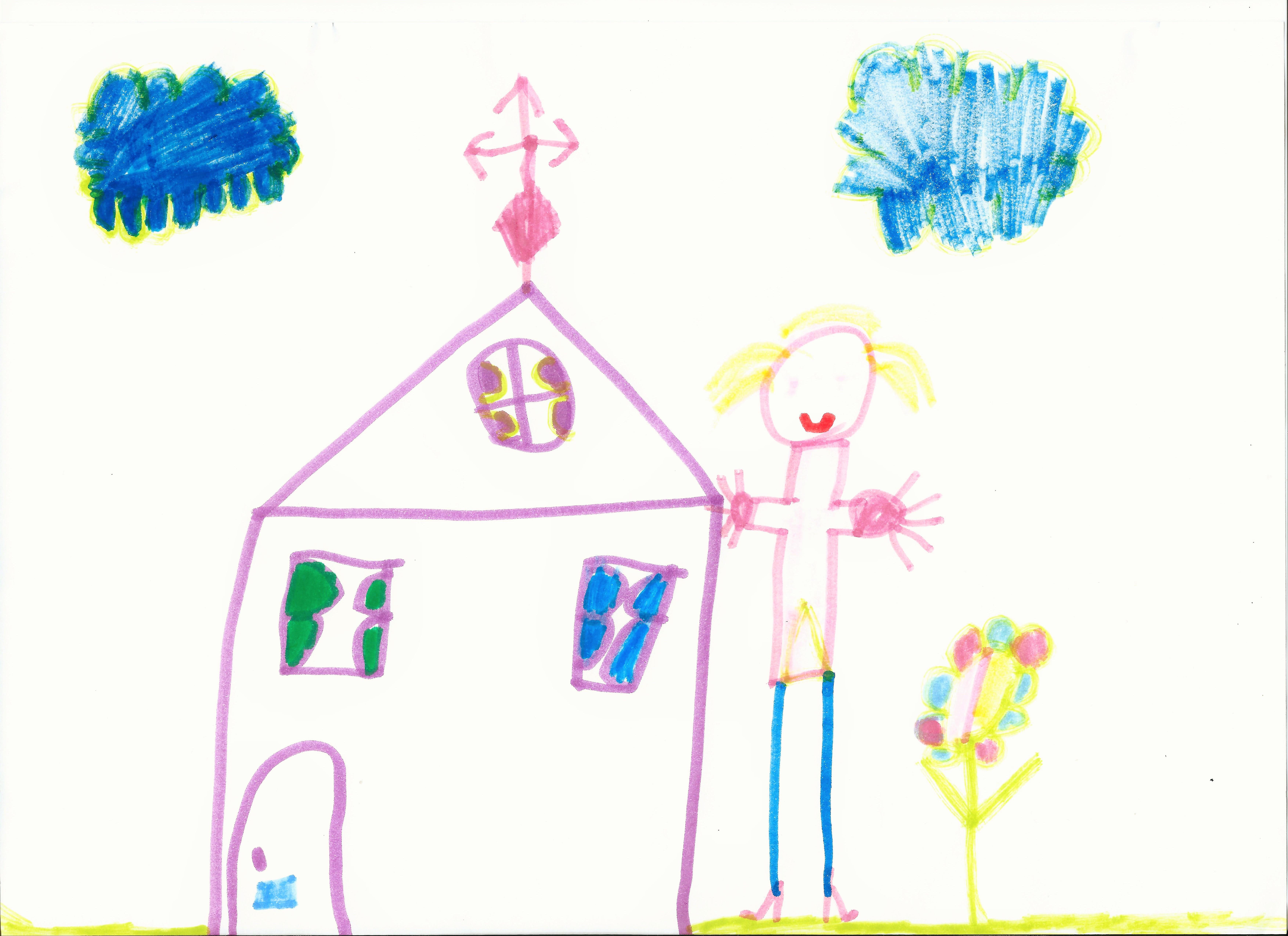 Tekeningen 5 jaar politieengedrag - Huis van kind buiten ...